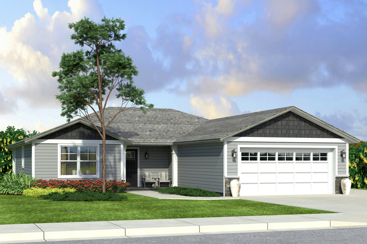 New ranch style house plan a compact yet spacious 4 for 4 bedroom ranch style home plans
