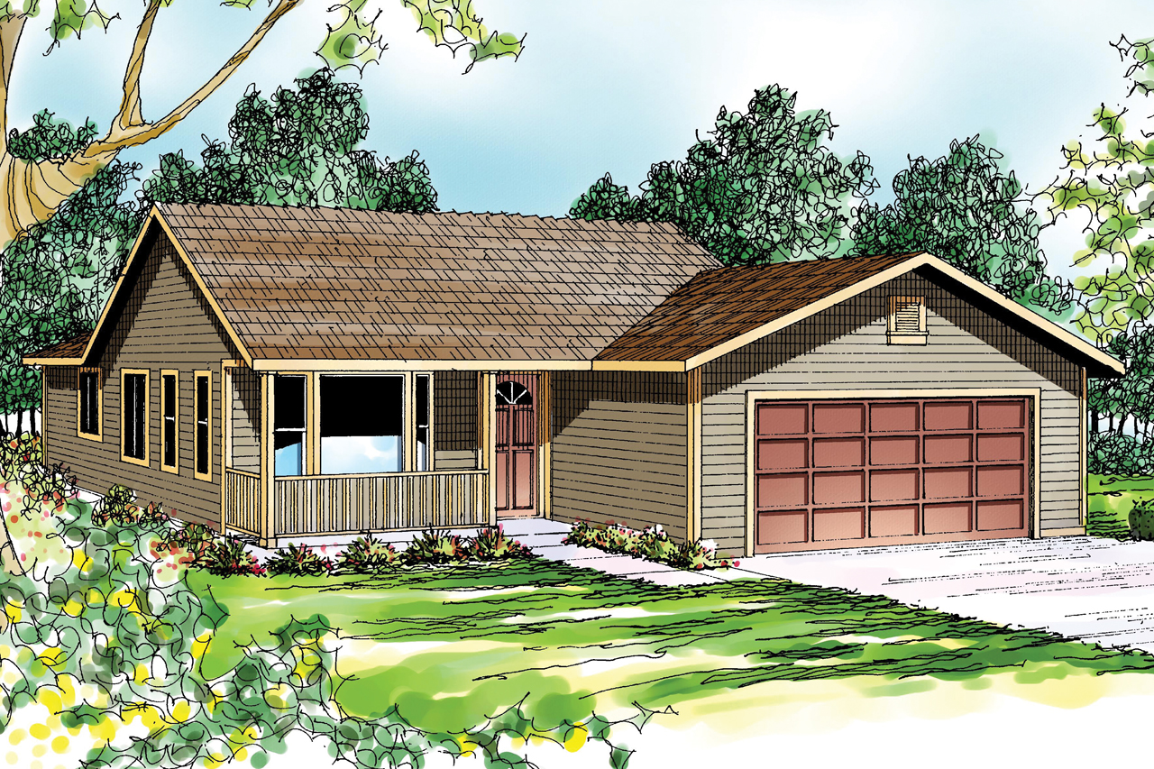 Traditional House Plan - Waverly 30-087 - Front Elevation