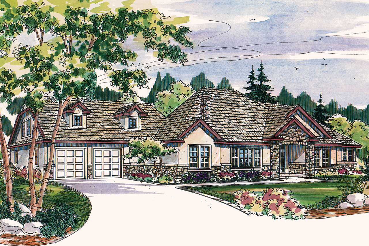 Custom Tuscan Home Plans - Tuscan house plan meridian 30 312 front elevation