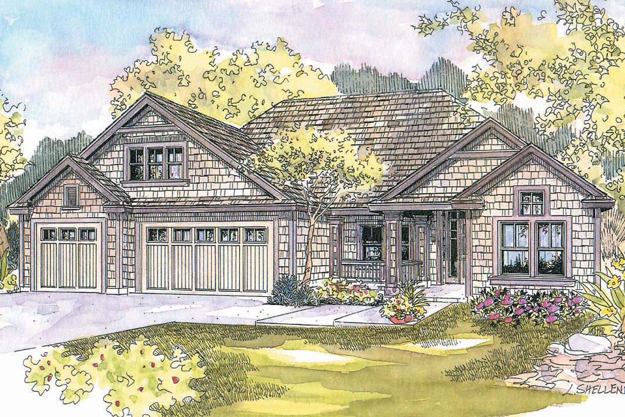 Featured House Plan of the Week, Shingle-style Home Plan, Cape Cod House Plans, Ranch Home Plan, Schuyler 30-522