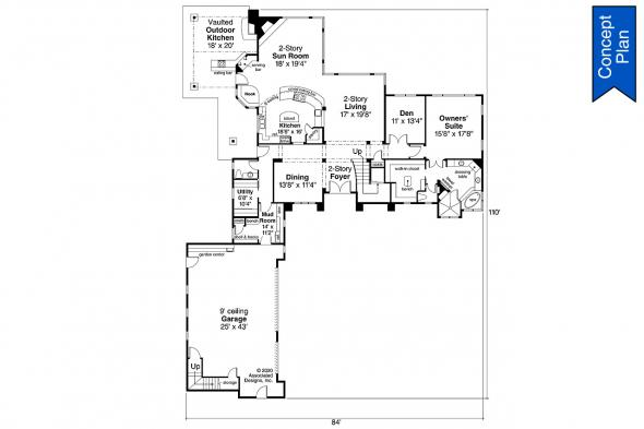 Traditional Concept Plan - Springhill 31-232 - First Floor Plan