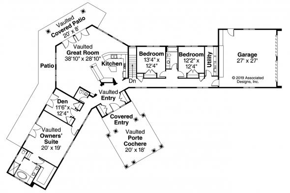 Contemporary House Plan - Georgetown 10-576 - Floor Plan