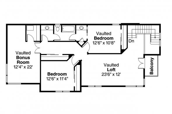 Contemporary House Plan - Parkview 30-905 - 2nd Floor Plan