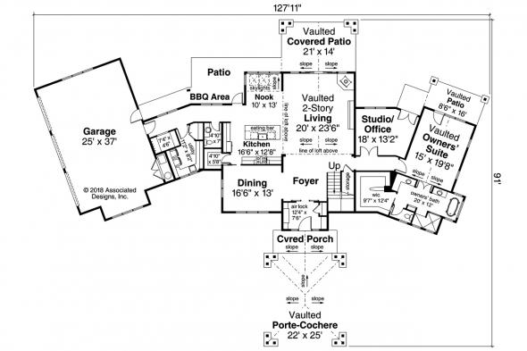 Contemporary House Plan - Patagonia 31-145 - First Floor Plan
