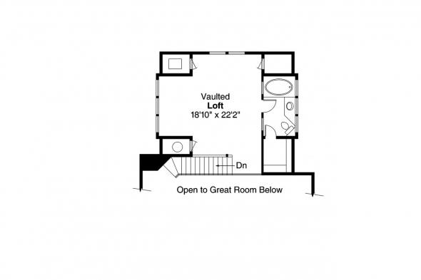Cottage House Plan - Arden 30-329 - 2nd Floor Plan