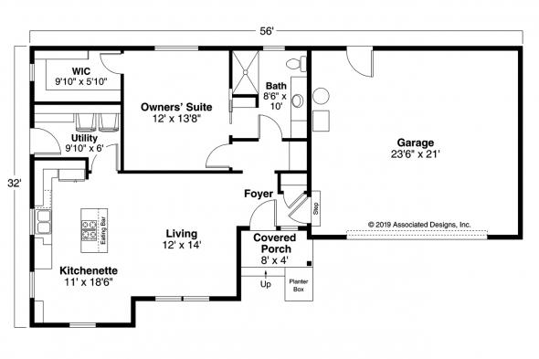 Efficient Living House Plan - Culver 31-152 - Floor Plan