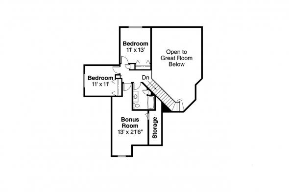 Country House Plan - Brillion 30-167 - 2nd Floor Plan