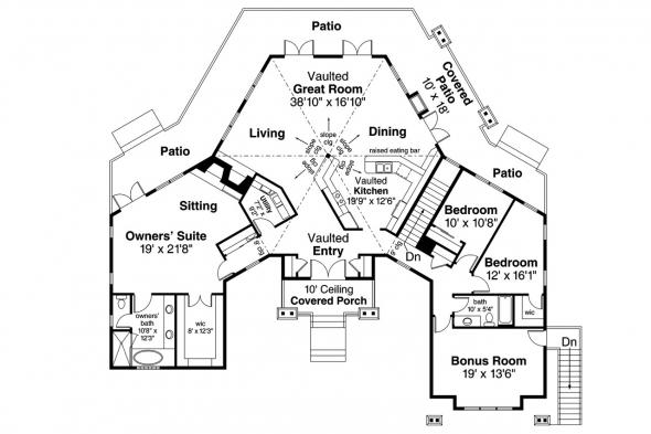 Craftsman House Plan Illahe 10-575 First Floor