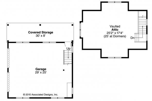 Garage Plan 20-087 - Floor Plan