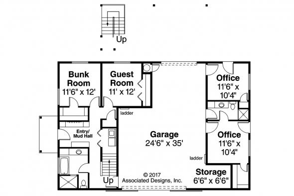 Garage Plan 20-183 - First Floor Plan