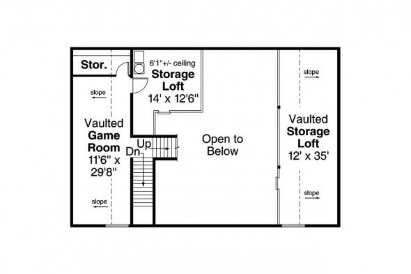 Garage Plan 20-183 - Second Floor Plan