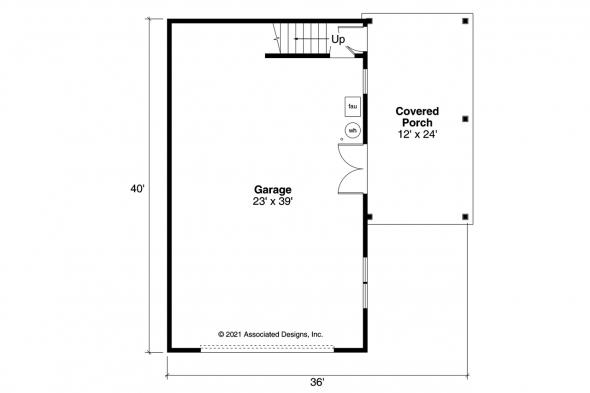 Garage Plan 20-291 - First Floor Plan