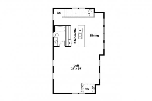 Garage Plan 20-291 - Second Floor Plan