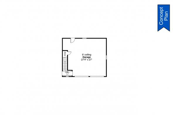 Home with Detached Garage - Elk Cove 31-224 - Garage First Floor Plan