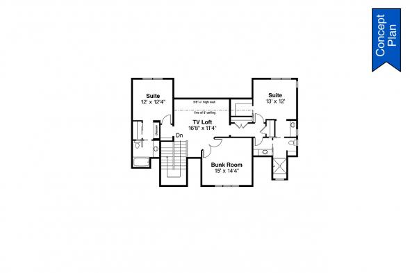 Ranch House Plan - Elk Cove 31-224 - Second Floor Plan