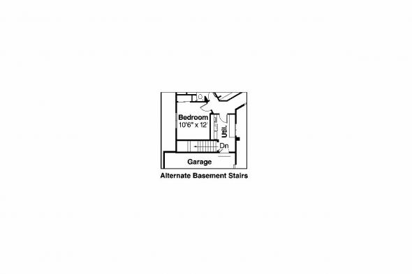 Southwest House Plan - Solano 11-005 - Alternate Basement Option