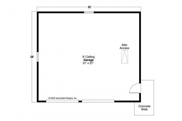 Garage Plan 20-083 - Floor Plan
