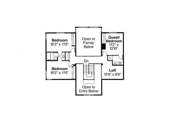 Tudor House Plan - Heritage 10-044 - 2nd Floor Plan