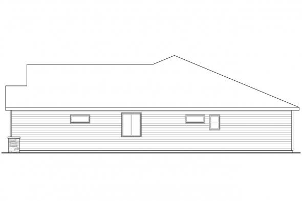 1 Story House Plan - Elsmere 31-014 - Right Elevation