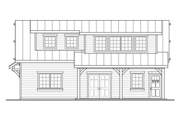 2 Car Garage Plan 20-291 - Right Elevation