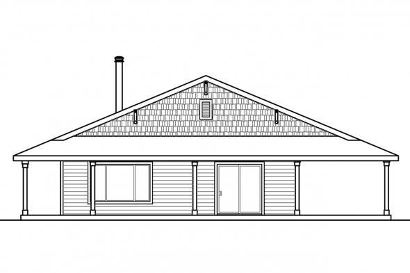 Cabin Plan - Madrone 30-749 - Right Elevation