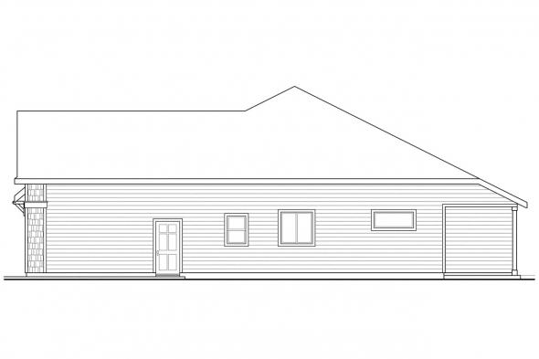 Cape Cod House Plan - Spingbrook 30-805 - Right Elevation