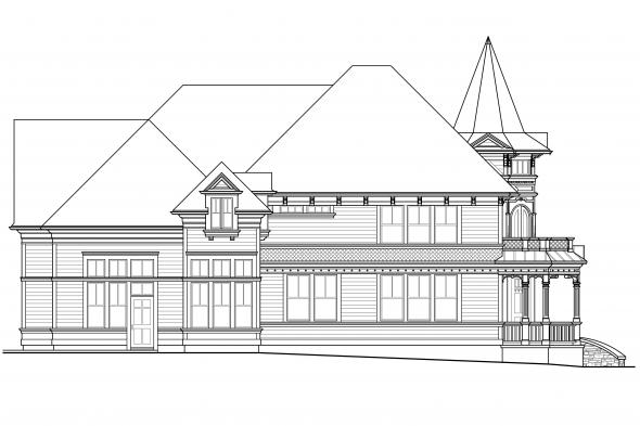 Chateau House Plan - Canterbury 30-516 - Left Elevation