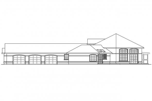 Classic House Plan - Beckwith 11-128 - Right Elevation