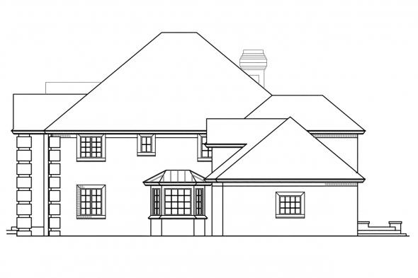 Classic House Plan - Franklin 50-001 - Right Elevation