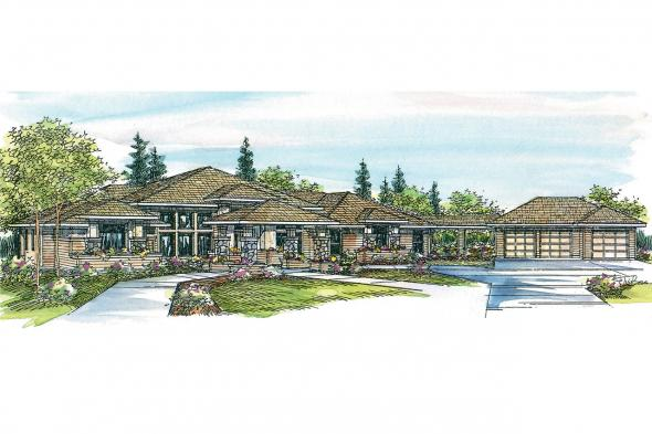 Contemporary House Plan - Argent 30-122 - Front Elevation