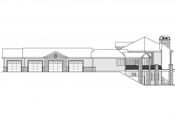 Contemporary House Plan - Hillview 11-138 - Right Elevation