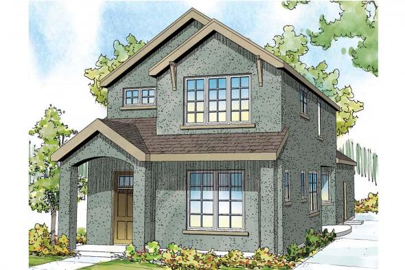 Contemporary House Plan - Montrose II 30-822 - Front Elevation