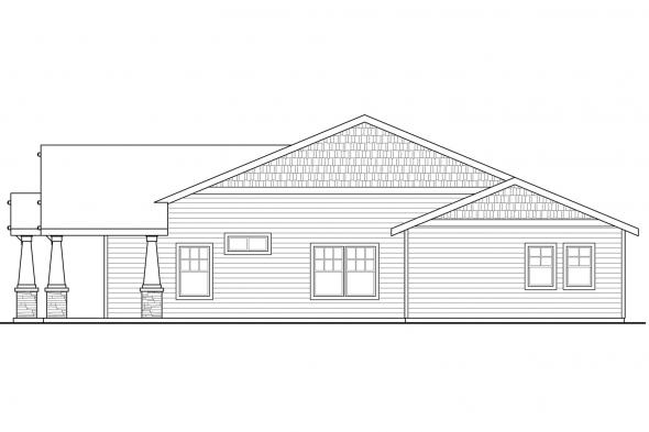 Cottage House Plan - Carlton 30-896 - Right Elevation