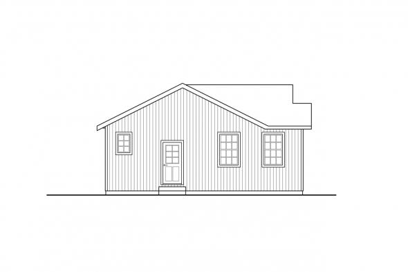 Cottage House Plan - Culver 31-152 - Left Elevation