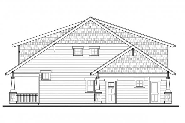 Cottage House Plan - Greenwood 70-001 - Right Elevation