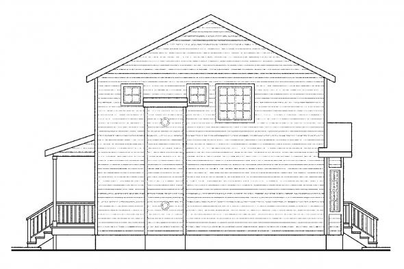 Cottage House Plan - Pine Hill 30-791 - Right Elevation