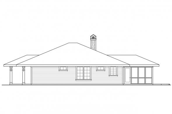 Cottage House Plan - Tidewater 30-997 - Right Elevation