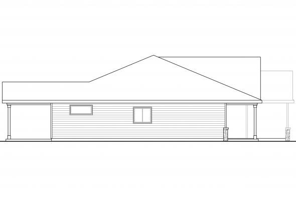 Country House Plan - Eastford 30-925 - Left Elevation