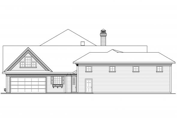 Country House Plan - Randell 30-395 - Right Elevation