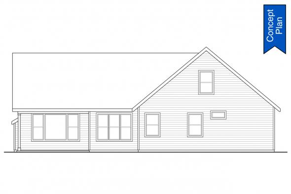Country House Plan - Tacoma 31-140 - Rear Elevation