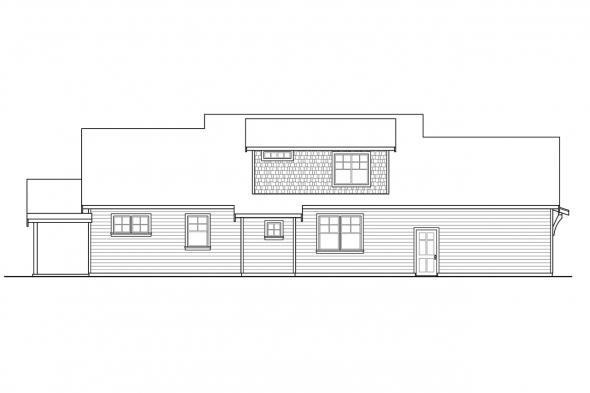 Country House Plan - Winlock 31-201 - Left Elevation