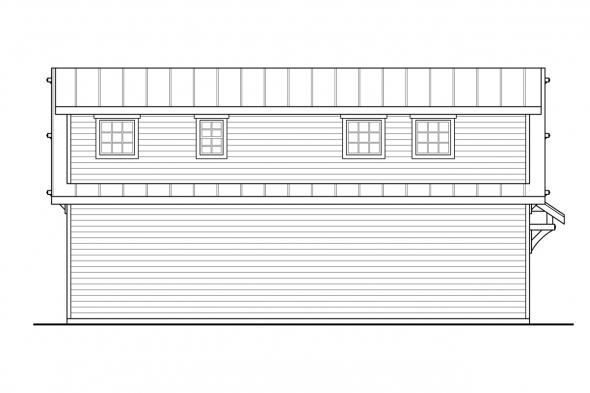 Detached Garage plan 20-291 - Left Elevation
