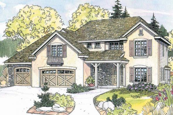 European House Plan - Sausalito 30-521 - Front Elevation