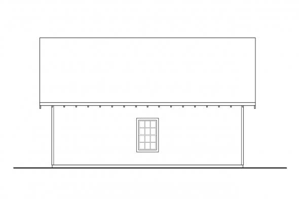 Garage Design 20-083 - Rear Elevation