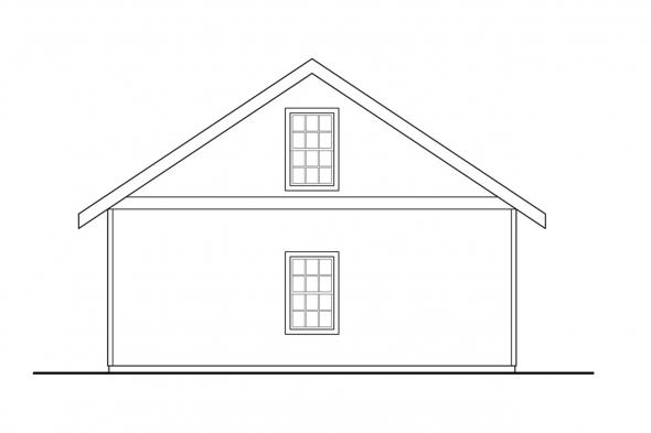 Detached Garage Plan 20-083 - Left Elevation