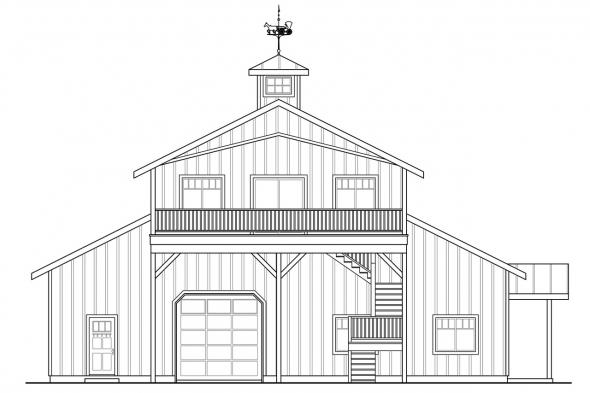 Garage Design 20-183 - Rear Elevation
