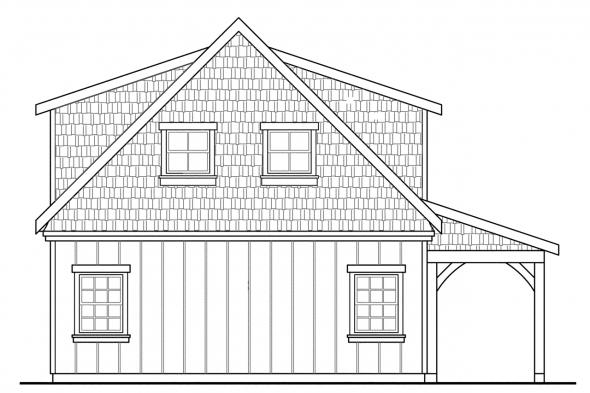 Garage Design 20-087 - Rear Elevation
