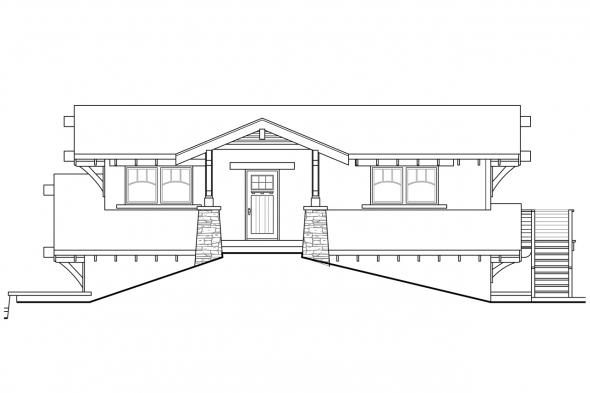 Garage Plan with Recreation Room 20-115 - Right Elevation