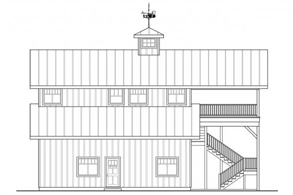 Garage Plan with Apartment 20-183 - Right Elevation