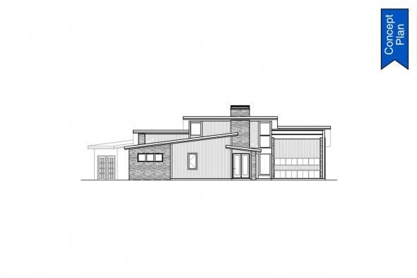 Modern Concept Plan - Syncline 31-219 - Right Elevation